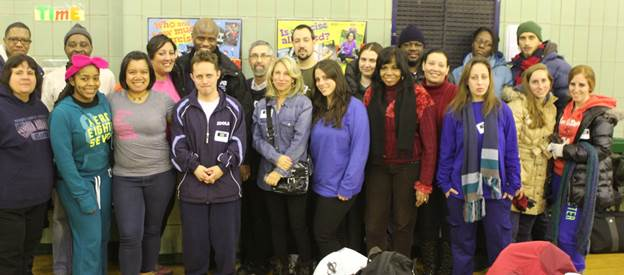 Students, faculty and staff who participated in the Homeless Outreach Population Estimate (HOPE). Back row, fourth from left, is Department of Homeless Services Commissioner Gilbert Taylor; to his right is Touro Professor Elhanan Marvit, director of administrative services for the Graduate School of Social Work.